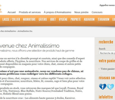 Client : Animalissimo